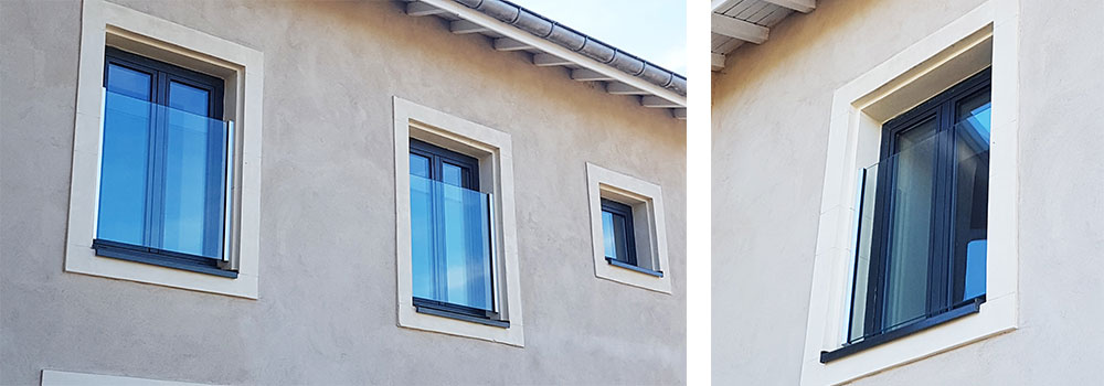 glass railing for window