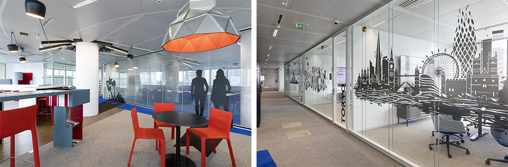 Interior glass partition