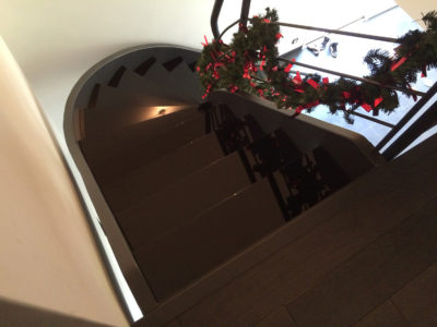 lacquered glass stairs