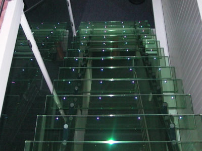 leds for glass staircase