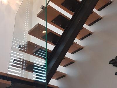 modern interior glass railing