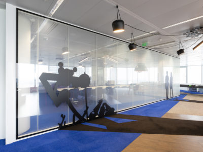 opacify glass partition