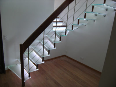 opal glass staircase