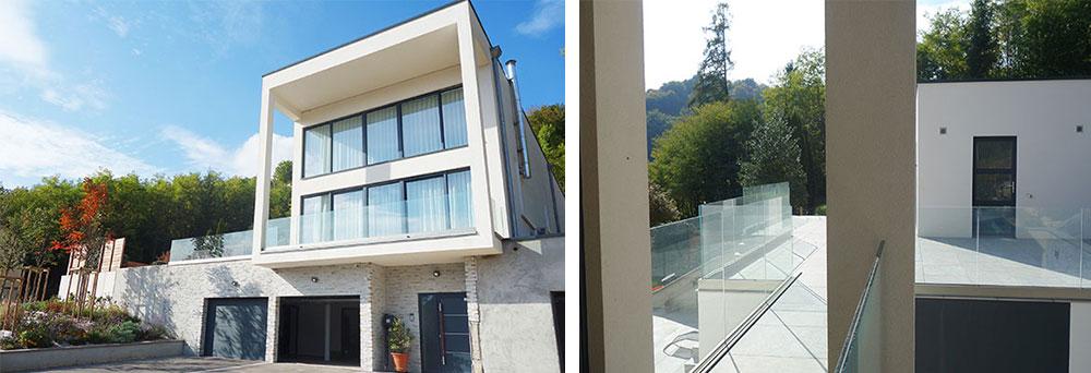 Profil glass railing
