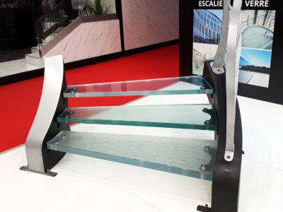 decorative glass staircase
