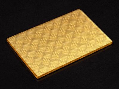gold decorative laminated glass