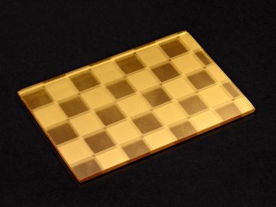 decorative laminated glass gold coating
