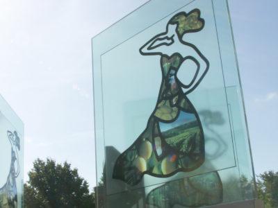 Exhibition glass signage