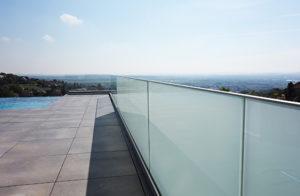 bespoke glass railing
