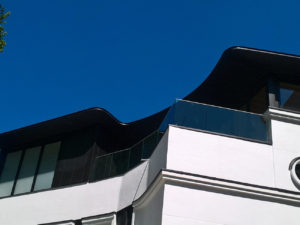 glass railing on profile